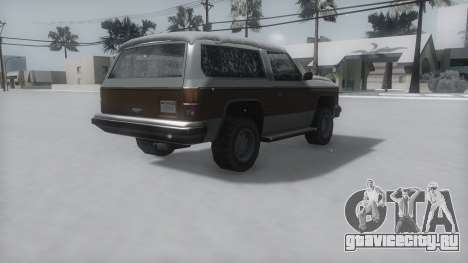 Rancher Winter IVF для GTA San Andreas вид слева