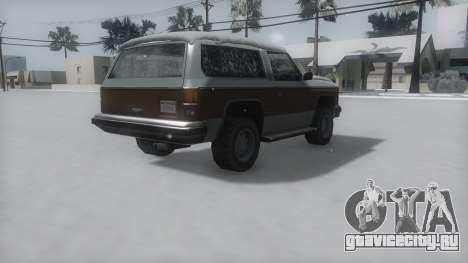Rancher Winter IVF для GTA San Andreas вид слева