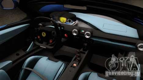 Ferrari LaFerrari Aperta 2017 для GTA San Andreas вид изнутри
