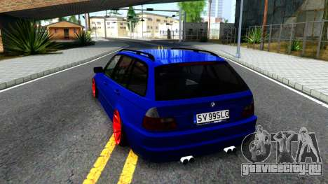 BMW E46 Touring Facelift для GTA San Andreas вид сзади слева