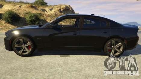Dodge Charger 2016 для GTA 5 вид слева