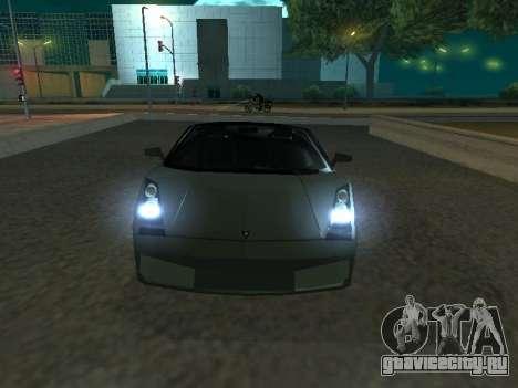 Lamborghini Galardo Spider для GTA San Andreas вид слева