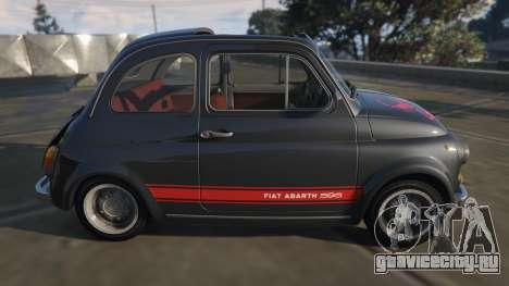 Fiat Abarth 595ss Street ver для GTA 5 вид слева