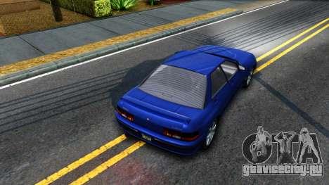 GTA V Zirconium Stratum Sedan для GTA San Andreas вид сзади