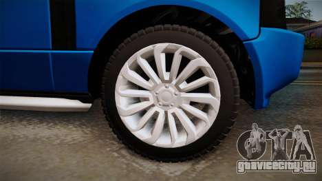 Range Rover 2008 для GTA San Andreas вид сзади
