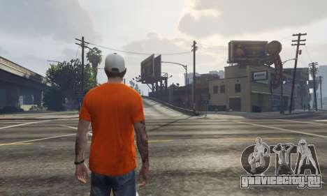 Кепка Charlotte Hornets для Тревора для GTA 5 третий скриншот