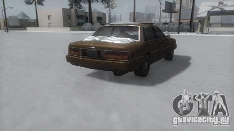 Primo Winter IVF для GTA San Andreas вид сзади слева