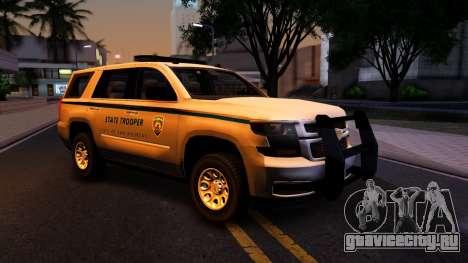 2015 Chevy Tahoe San Andreas State Trooper для GTA San Andreas вид изнутри
