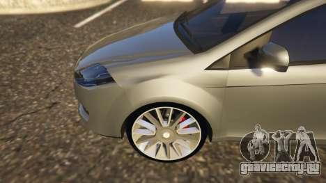 Fiat Bravo 2011 для GTA 5 вид сзади справа