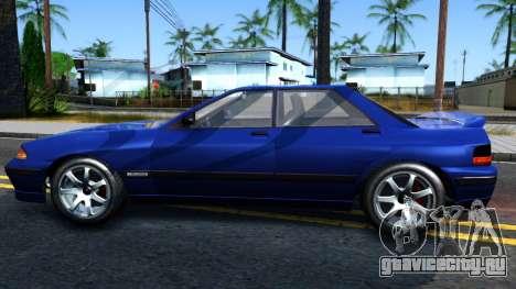 GTA V Zirconium Stratum Sedan для GTA San Andreas вид слева