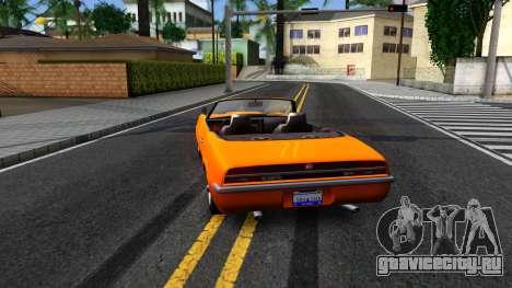 GTA V Declasse Vigero Retro Rim для GTA San Andreas вид сзади слева