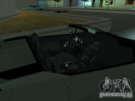 Lamborghini Galardo Spider для GTA San Andreas вид сбоку