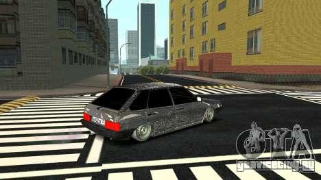 ВАЗ 2109 Зимняя версия для GTA San Andreas вид сзади слева