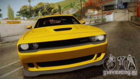 Dodge Challenger Hellcat 2015 для GTA San Andreas вид справа