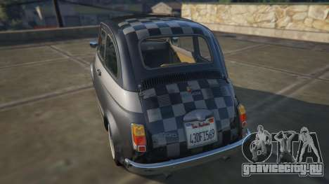 Fiat Abarth 595ss Racing ver для GTA 5 вид сзади слева