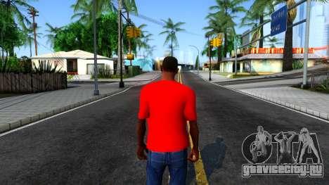 Hulk Hogan T-Shirt для GTA San Andreas третий скриншот