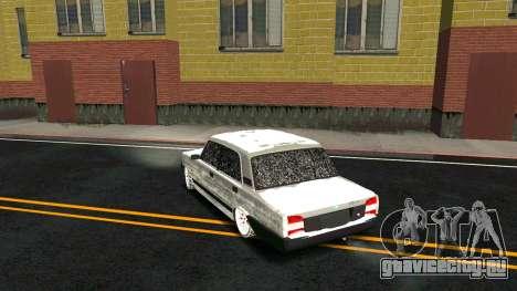 ВАЗ 2107 Classic 2 Зимняя версия для GTA San Andreas вид снизу