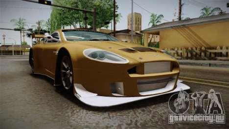Aston Martin Racing DBRS9 GT3 2006 v1.0.6 YCH для GTA San Andreas вид справа