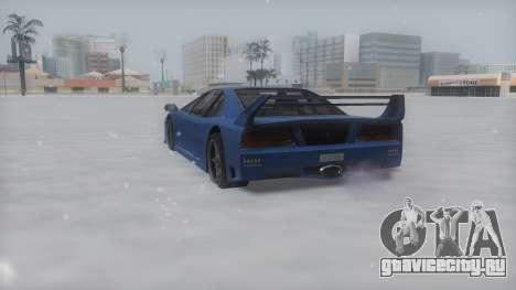Turismo Winter IVF для GTA San Andreas вид сзади слева