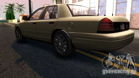 Ford Crown Victoria Unmarked 2009 для GTA San Andreas вид сзади слева