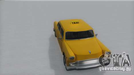Cabbie Winter IVF для GTA San Andreas вид справа