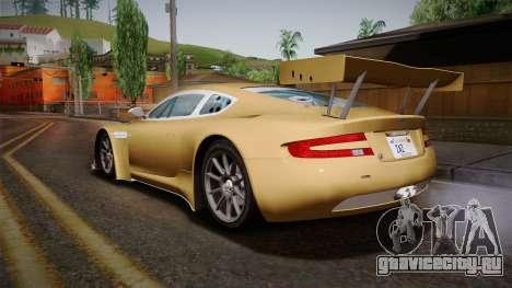 Aston Martin Racing DBRS9 GT3 2006 v1.0.6 YCH для GTA San Andreas вид слева