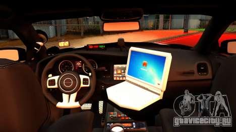 2014 Dodge Charger Cleveland TN Police для GTA San Andreas вид справа