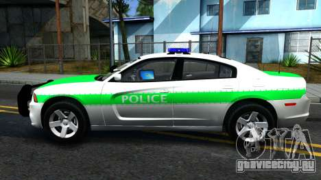 Dodge Charger German Police 2013 для GTA San Andreas вид слева