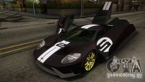 Ford GT 2017 Heritage Edition для GTA San Andreas вид снизу