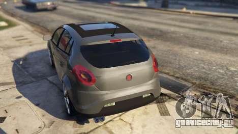 Fiat Bravo 2011 для GTA 5 вид сзади слева