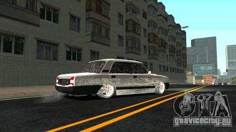 ВАЗ 2107 Classic 2 Зимняя версия для GTA San Andreas вид изнутри