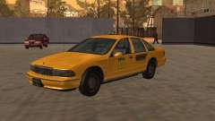 Chevrolet Caprice Taxi Kaufman для GTA San Andreas
