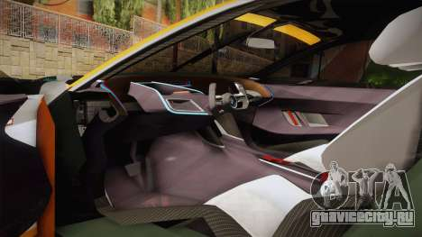 BMW CSL Hommage R 2015 GSR Project Mirai для GTA San Andreas вид сбоку