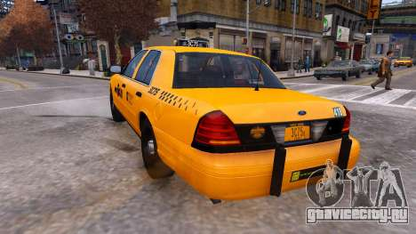 Taxi Nyc для GTA 4 вид сзади слева