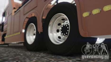 Scania 113H Guincho 4x6 Funcional для GTA 5 вид сзади справа