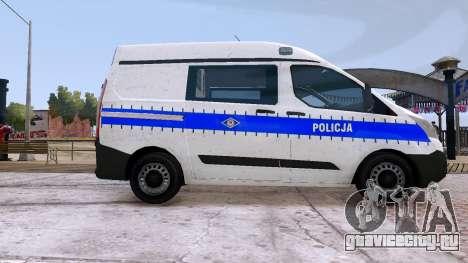 Ford Transit Polish Police 2015 для GTA 4 вид слева