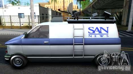 GTA V Declasse Burrito News для GTA San Andreas вид слева