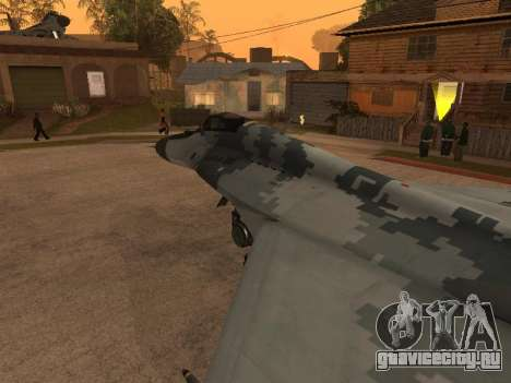 MIG-29 Armenian для GTA San Andreas салон