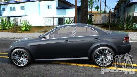 GTA V Ubermacth Sentinel Sedan для GTA San Andreas вид слева