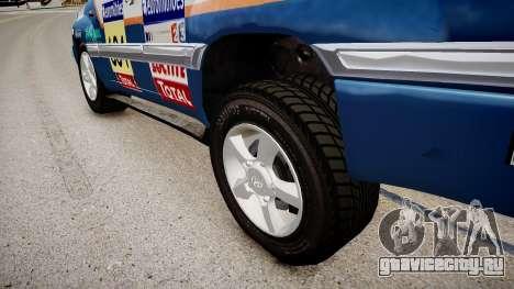 Toyota Land Cruiser GINAF Dakar Service Car для GTA 4 вид сзади