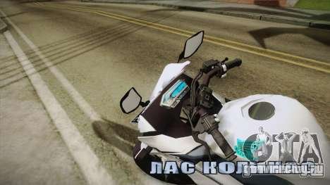 Honda CBR150R 2016 White Row для GTA San Andreas вид сзади слева