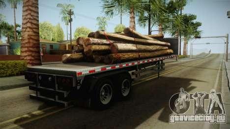 GTA 5 Log Trailer v2 для GTA San Andreas вид слева