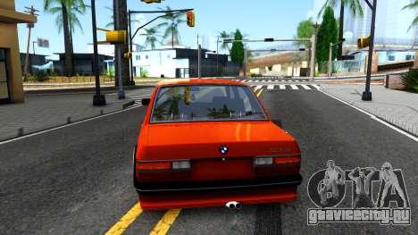 BMW E28 M5 для GTA San Andreas вид сзади слева