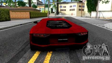 Lamborghini Aventador LP700-4 для GTA San Andreas вид сзади слева