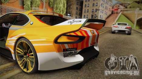 BMW CSL Hommage R 2015 GSR Project Mirai для GTA San Andreas вид сверху
