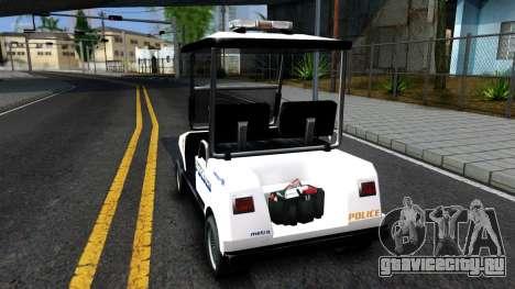 Caddy Metropolitan Police 1992 для GTA San Andreas вид сзади слева