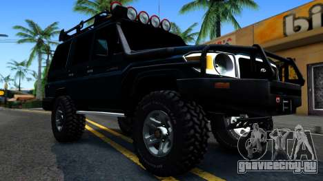 Toyota Land Cruiser 70 Off-Road V1.0 для GTA San Andreas вид изнутри
