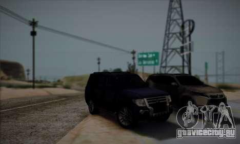 Mitsubishi Pajero IV 2015 для GTA San Andreas вид сверху