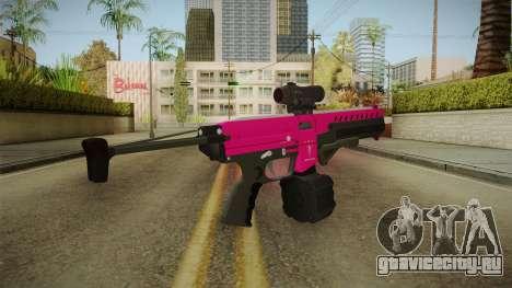 GTA 5 Combat PDW Pink для GTA San Andreas второй скриншот