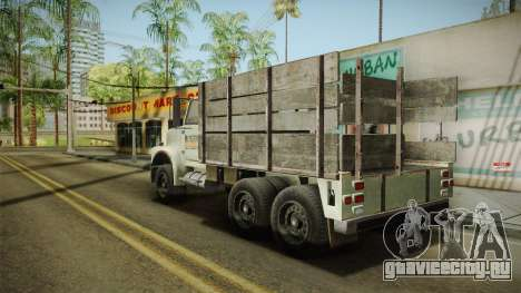 GTA 5 Vapid Scrap Truck v2 IVF для GTA San Andreas вид сзади слева